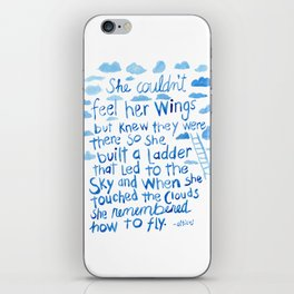 She couldn't feel her wings but knew they were there... iPhone Skin