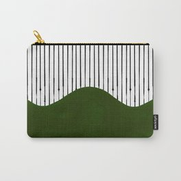 lines and wave (green) Carry-All Pouch