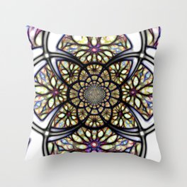 The Art Of Stain Glass Throw Pillow