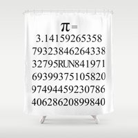 pi Shower Curtains featuring Pi by Anton Nikulin