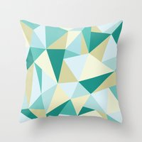 3d Throw Pillows featuring 3D by petitscoquins
