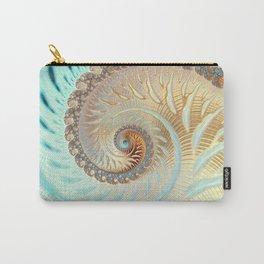 Vanilla Swirl - Fractal Art  Carry-All Pouch