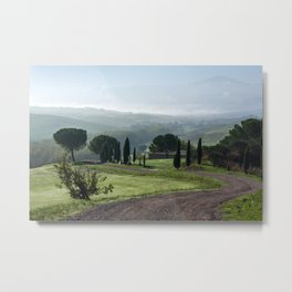 Panoramic view of Val d'Orcia, Tuscany, Italy Metal Print