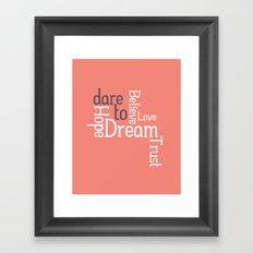Dare to Love -- Alternate Version Framed Art Print