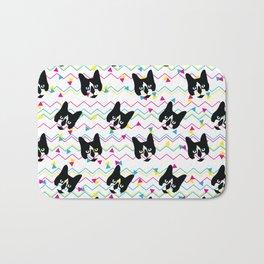 CMYK Cat Pattern Bath Mat