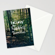 Follow The Road Less Travelled Stationery Cards