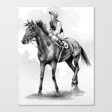 About To Play Up - Racehorse Canvas Print