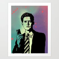 dale cooper Art Prints featuring Agent Dale Cooper - Twin Peaks by Heavens to Betzy