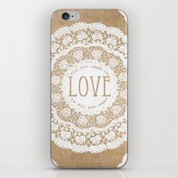 all you need is love iPhone & iPod Skins featuring All You Need is Love by Jenndalyn