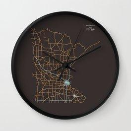 Minnesota Highways Wall Clock