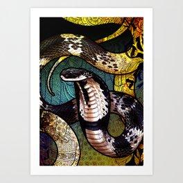 Indo-Chinese Spitting Cobra Art Print