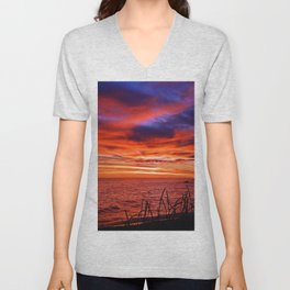 The Mighty Saint-Lawrence at Dawn Unisex V-Neck