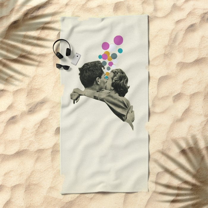 First Kiss Beach Towel