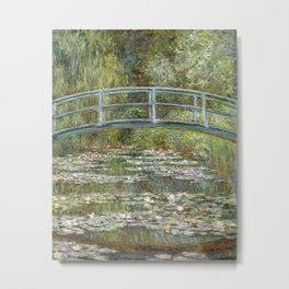 Bridge over a Pond of Water Lilies by Claude Monet Metal Print