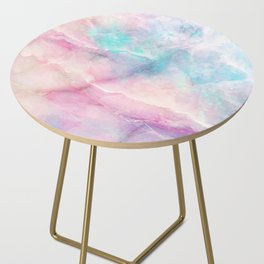 Iridescent marble Side Table
