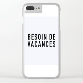 113. Need Holidays Clear iPhone Case