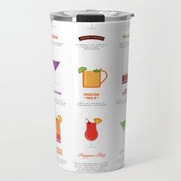 Classic Cocktails Print Art Poster | Drink Recipes | Bar Poster | Bar Art | Kitchen Art | Alcohol Travel Mug