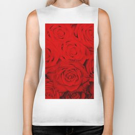 Some people grumble- Floral Red Rose Roses Flowers Biker Tank
