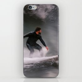 Surfer riding a wave iPhone Skin