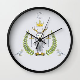 Roy Owl  - version two Wall Clock