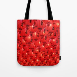 Big Red Great Luck Tote Bag