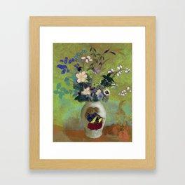 "Odilon Redon ""Vase Au Guerrier Japonais"" Framed Art Print"