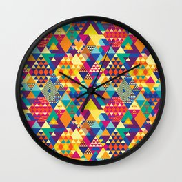 Triangles N Colors Wall Clock