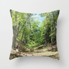Towering forest Throw Pillow