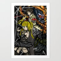 death note Art Prints featuring Death Note by SpontaneousOD