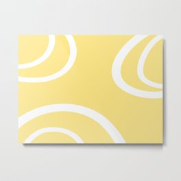 HELLO YELLOW - GRAPHIC 1 by MS Metal Print