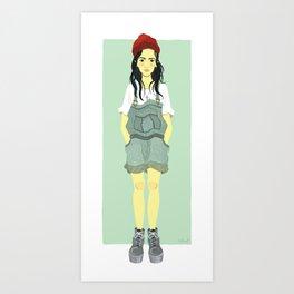 90s Girl Art Print