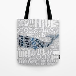 Quiet Pearls Whale Tote Bag