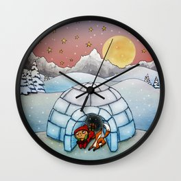 Winter Home Wall Clock