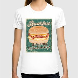 Retro Breakfast Sandwich Sign T-shirt