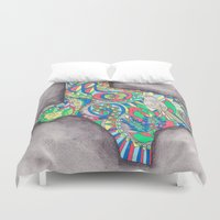 texas Duvet Covers featuring Texas by Laura Maxwell