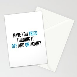 Off And On Again Funny Quote Stationery Cards