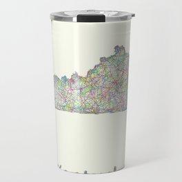 Kentucky map Travel Mug