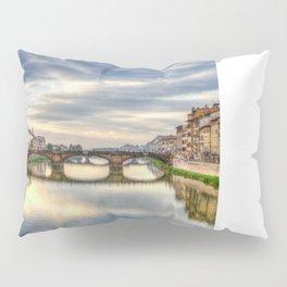 Arno River and Ponte Vecchio, Florence Pillow Sham