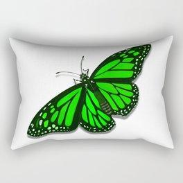 Green Monarch Butterfly Rectangular Pillow