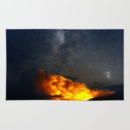 Volcanic Eruption with the Milky Way Rug