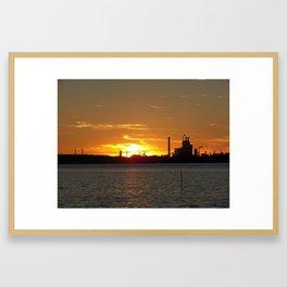 hopewell va paper plant Framed Art Print