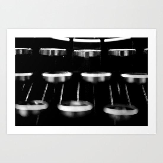 Vintage Typewriter #1 Art Print