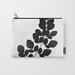 Moringa Leaf Silhouette Art Print Carry-All Pouch