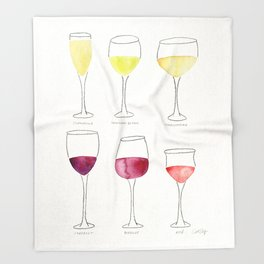 Wine Collection Throw Blanket