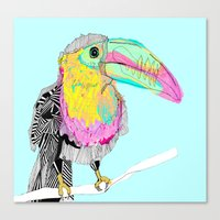toucan Canvas Prints featuring Toucan by caseysplace