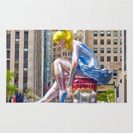 Seated Ballerina at Rockefeller Center 1 Rug