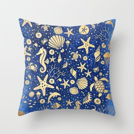SEALIFE BACKGROUND - Sand INVERTED 15 Throw Pillow