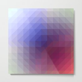 Blend Pixel Color 4 Metal Print