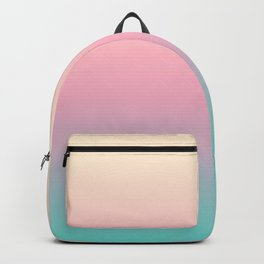 Ombre gradient illustration pink yellow blue colors Backpack