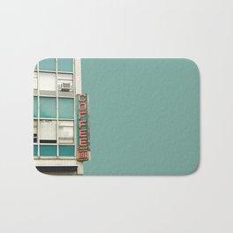 New York Coffee Shop on Aqua Bath Mat